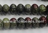 CDB202 15.5 inches 8*12mm rondelle natural dragon blood jasper beads