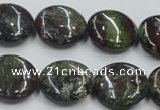 CDB209 15.5 inches 20mm flat round natural dragon blood jasper beads