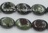 CDB212 15.5 inches 15*20mm oval natural dragon blood jasper beads