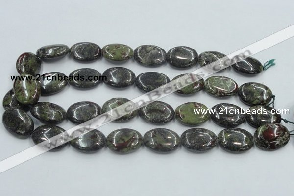 CDB213 15.5 inches 18*25mm oval natural dragon blood jasper beads