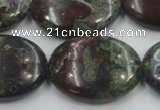 CDB214 15.5 inches 22*30mm oval natural dragon blood jasper beads
