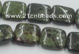 CDB221 15.5 inches 20*20mm square natural dragon blood jasper beads
