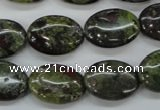 CDB238 15.5 inches 13*18mm oval natural dragon blood jasper beads
