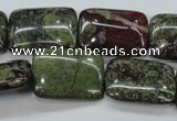CDB244 15.5 inches 18*25mm rectangle natural dragon blood jasper beads