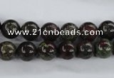 CDB252 15.5 inches 10mm round natural dragon blood jasper beads
