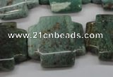 CDB30 15.5 inches 25*25mm cross new dragon blood jasper beads