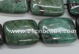 CDB31 15.5 inches 18*25mm rectangle new dragon blood jasper beads