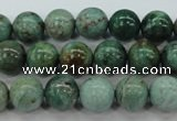 CDB43 15.5 inches 12mm round new dragon blood jasper beads