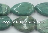 CDB45 15.5 inches 18*25mm flat teardrop new dragon blood jasper beads