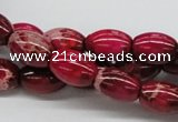 CDE09 15.5 inches 10*14mm rice dyed sea sediment jasper beads