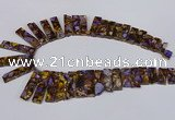 CDE1007 Top drilled 9*15mm - 10*45mm sticks sea sediment jasper beads