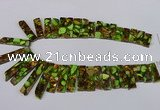 CDE1010 Top drilled 9*15mm - 10*45mm sticks sea sediment jasper beads