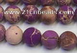 CDE1021 15.5 inches 6mm round matte sea sediment jasper beads
