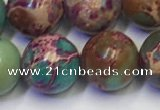 CDE1059 15.5 inches 12mm round sea sediment jasper beads wholesale