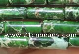 CDE1105 15.5 inches 4*13mm tube sea sediment jasper beads