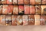 CDE1230 15.5 inches 3*6mm heishi sea sediment jasper beads