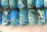 CDE1281 15.5 inches 6*10mm rondelle sea sediment jasper beads