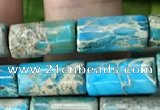 CDE1330 15.5 inches 6*12mm tube sea sediment jasper beads