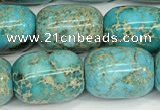 CDE1364 15.5 inches 13*18mm drum sea sediment jasper beads wholesale