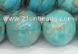 CDE1373 15.5 inches 18mm round sea sediment jasper beads wholesale