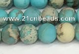 CDE1377 15.5 inches 6mm round matte sea sediment jasper beads
