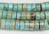 CDE1407 15.5 inches 3*6mm heishi sea sediment jasper beads wholesale