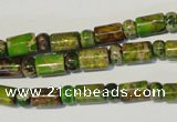 CDE142 3*6mm rondelle & 6*9mm tube dyed sea sediment jasper beads
