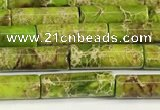 CDE1426 15.5 inches 4*13mm tube sea sediment jasper beads wholesale