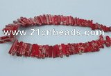 CDE1512 Top drilled 5*15mm - 6*55mm sticks sea sediment jasper beads