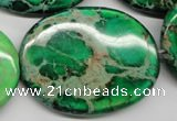 CDE188 15.5 inches 30*40mm oval dyed sea sediment jasper beads