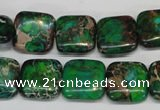 CDE193 15.5 inches 14*14mm square dyed sea sediment jasper beads