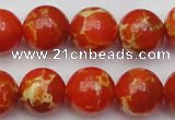 CDE2006 15.5 inches 16mm round dyed sea sediment jasper beads