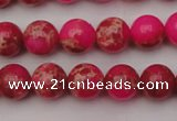 CDE2013 15.5 inches 8mm round dyed sea sediment jasper beads