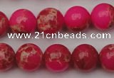 CDE2014 15.5 inches 10mm round dyed sea sediment jasper beads