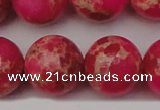 CDE2021 15.5 inches 24mm round dyed sea sediment jasper beads