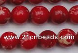CDE2026 15.5 inches 12mm round dyed sea sediment jasper beads