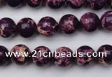 CDE2045 15.5 inches 6mm round dyed sea sediment jasper beads