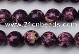 CDE2046 15.5 inches 8mm round dyed sea sediment jasper beads