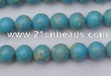 CDE2056 15.5 inches 6mm round dyed sea sediment jasper beads