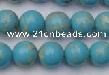 CDE2059 15.5 inches 12mm round dyed sea sediment jasper beads