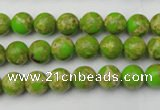 CDE2066 15.5 inches 4mm round dyed sea sediment jasper beads