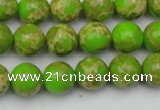 CDE2068 15.5 inches 8mm round dyed sea sediment jasper beads