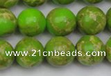 CDE2072 15.5 inches 16mm round dyed sea sediment jasper beads