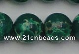 CDE2087 15.5 inches 24mm round dyed sea sediment jasper beads