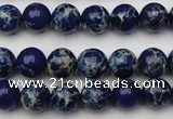 CDE2090 15.5 inches 8mm round dyed sea sediment jasper beads