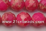 CDE2117 15.5 inches 20mm faceted round dyed sea sediment jasper beads