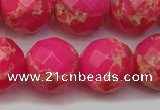 CDE2118 15.5 inches 22mm faceted round dyed sea sediment jasper beads