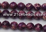 CDE2140 15.5 inches 6mm faceted round dyed sea sediment jasper beads