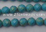 CDE2150 15.5 inches 6mm faceted round dyed sea sediment jasper beads