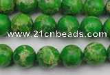 CDE2222 15.5 inches 8mm round dyed sea sediment jasper beads
